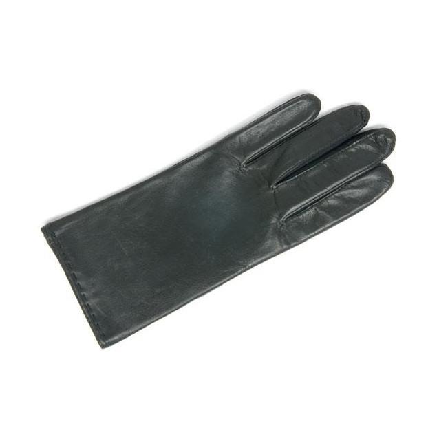 Gant Cuir Et Élastomère Noir