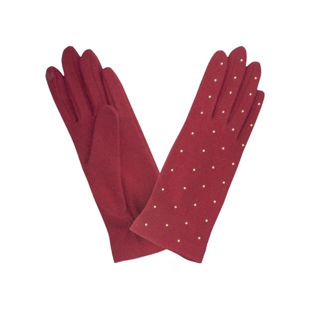 gant laine stud all over Rouge