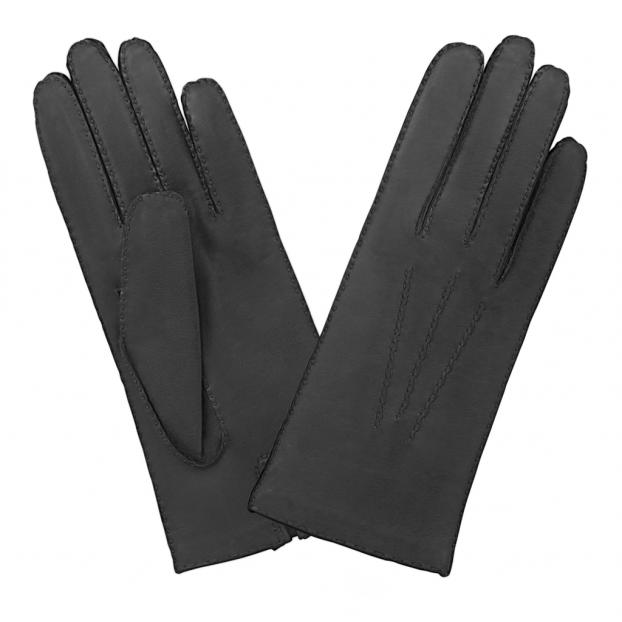 Gant Cuir Cousu Main Noir