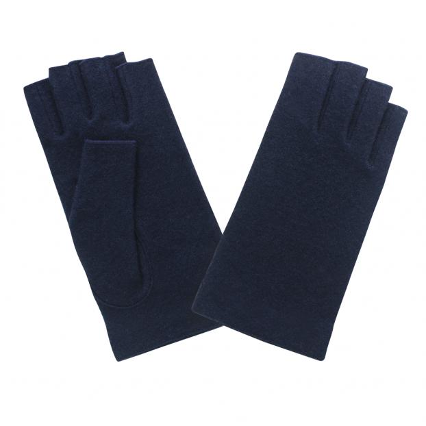 gant mitaine laine Deep blue